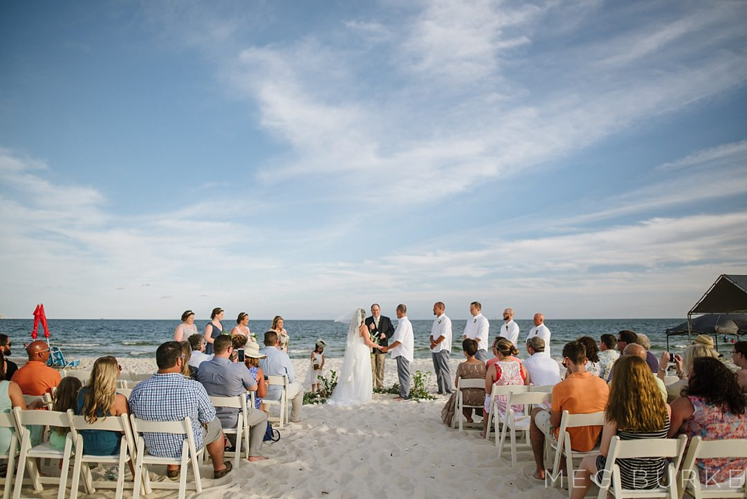 fort morgan alabama beach ceremony