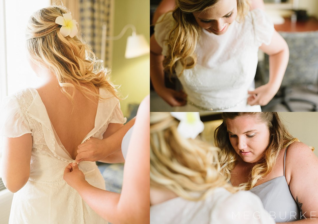 bride getting ready for a southern wedding