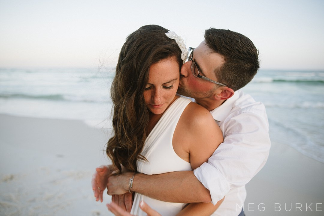 bride and groom pensacola beach elopement