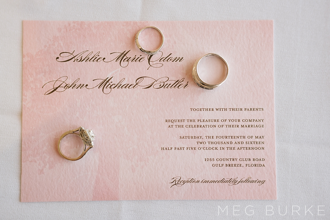 Invitation suite with rings