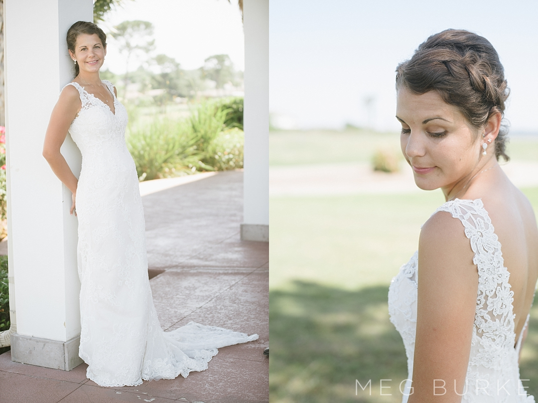 Golf Course Bridal portraits
