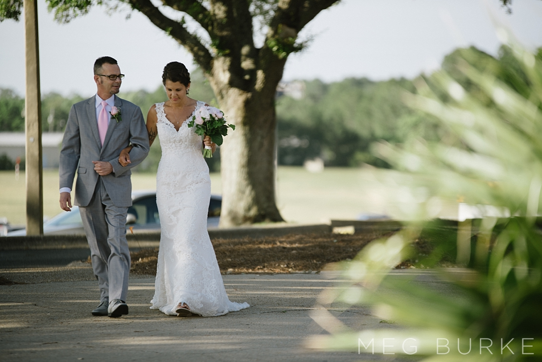Dad walks bride down aisle at Tiger Point