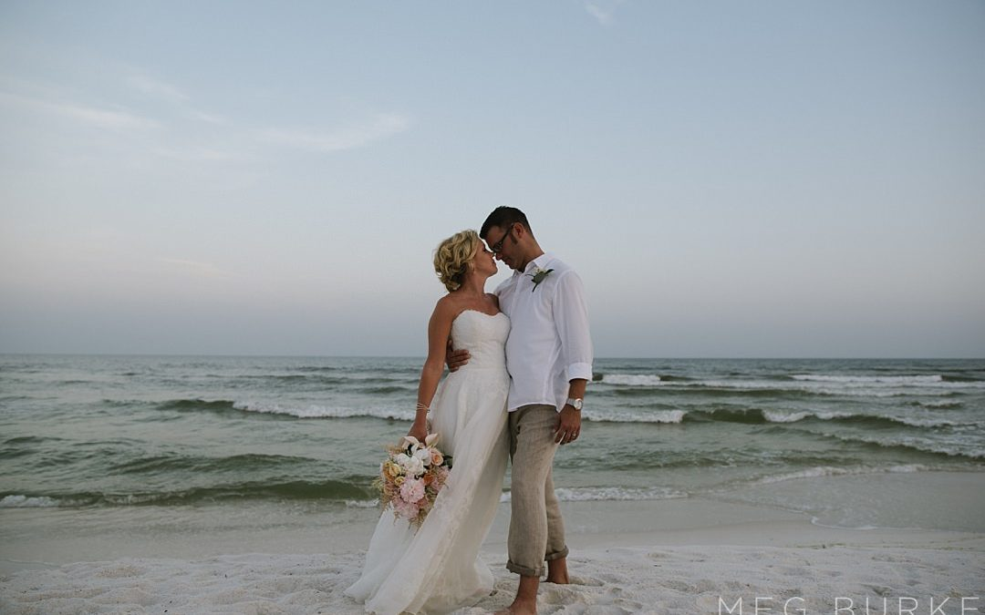 Southern Style Pensacola Beach Wedding // Adrienne + Chad