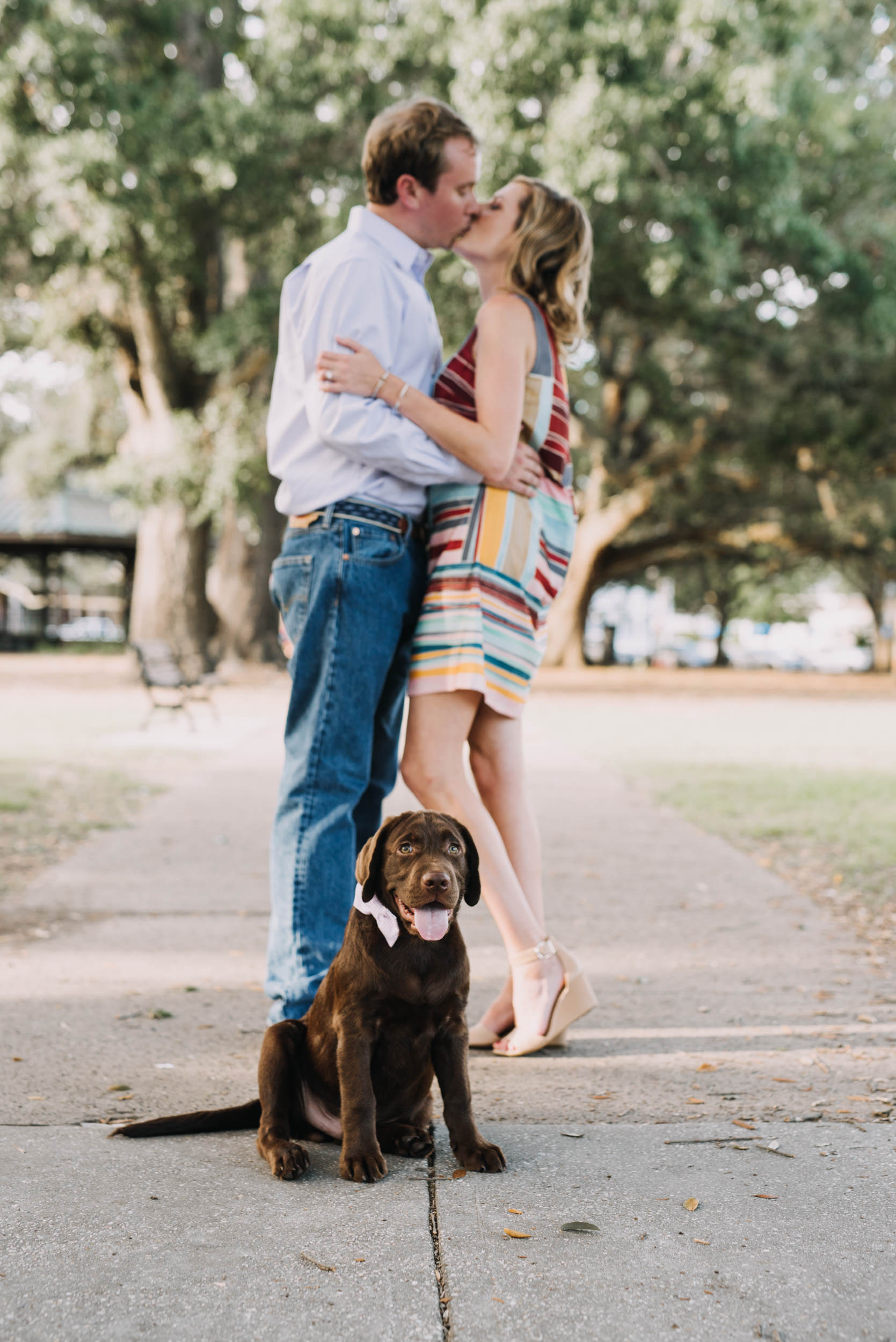 pensacola-engagement-session-with-a-dog